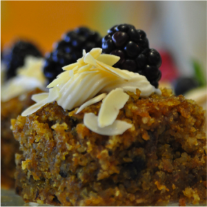 Carrot Cake with fruit