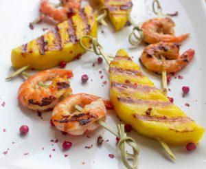 mango shrimp skewers