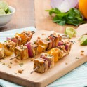 Spicy Tofu Peanut Kebobs