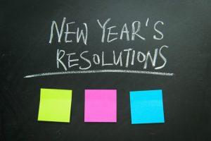 New Year's Resolution Blackboard