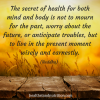 The secret of health