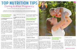 Top Nutrition Tips During & After Pregnancy by Andrea Holwegner RD