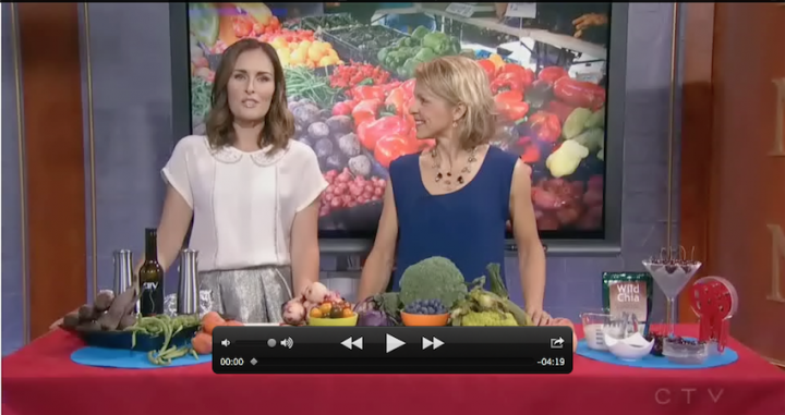 nutrition expert Andrea Holwegner on CTV Morning Live Calgary - Finding Amazing Options at the Farmer's Market