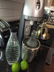 sparkling water maker with limes