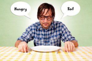 Emotional eating, blocking food