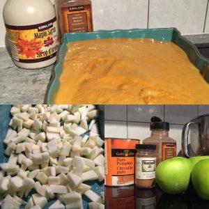 Pumpkin apple custard recipe