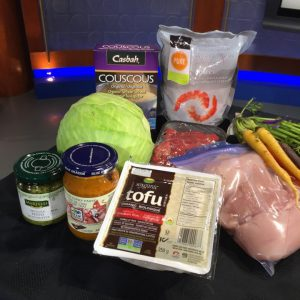 backup meal ideas tofu, couscous