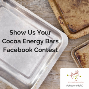 Show Us Your Cocoa Energy Bars Facebook Contest