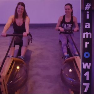 Richelle and friend, rowing workout