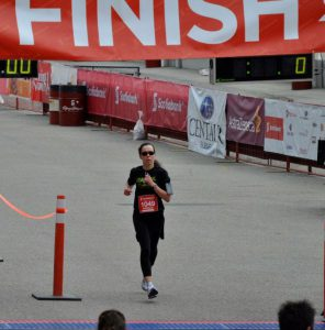 Picture from marathon finish line