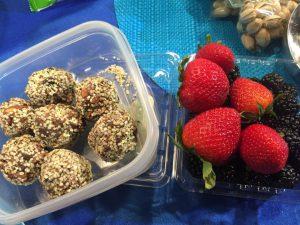 energy balls and berries