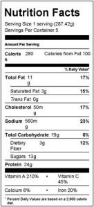 HSN Thai Beef Salad Nutrition