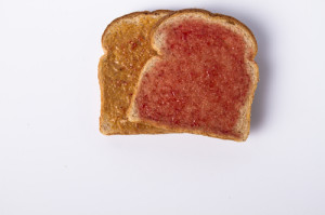 bread with peanut butter and jam