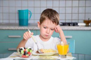 little boy not eating