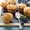 Recipe for blueberry oat muffins