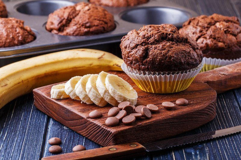 Recipe for chocolate banana cupcakes