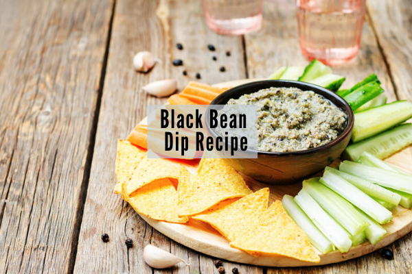 plant based recipe for black bean dip