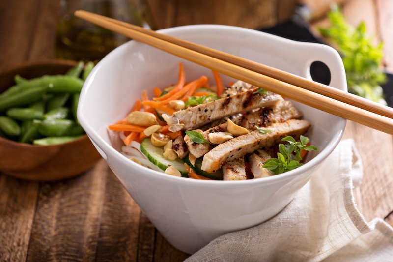 Asian Salad Bowls with Chicken - Dietitian Approved Healthy Recipe