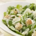 Receip for a creamy garlic Caesar salad