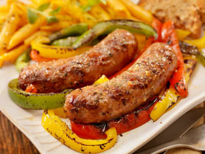 Grilled Italian Sausage and Red Pepper with Penne recipe