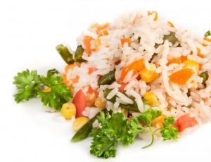 vegetables and rice