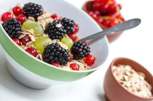 Oatmeal fruit breakfast