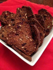 Cran pecan seed crackers