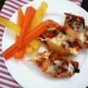 mushroom stuffed ricotta shells