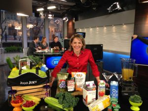 Andrea Holwegner at Breakfast Television Smoothies