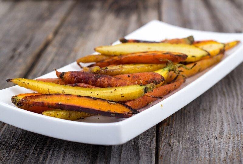healthy recipe: roasted carrots and rutabaga
