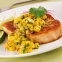Recipe for Grilled Lime Cilantro Fish with Mango Salsa