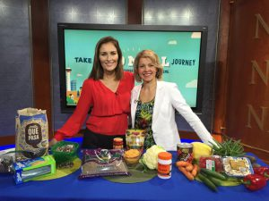 Andrea Holwegner @chocoholicRD on CTV Morning Live for #NutritionMonth