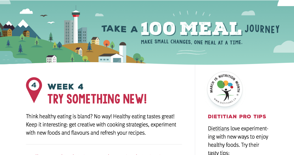 Nutrition Month Week 4: Try Something New