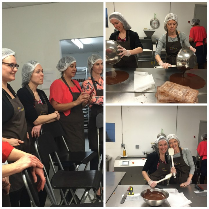 chocoholic dietitians learning the science of making chocolate