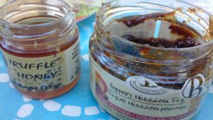 Truffle Honey and Peppery Mission Fig jam