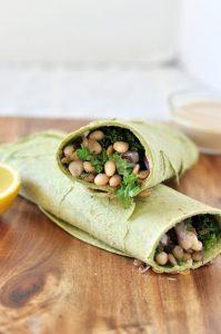white bean and kale wrap