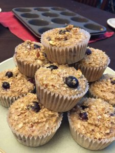 blueberry oatmeal cups ready to eat