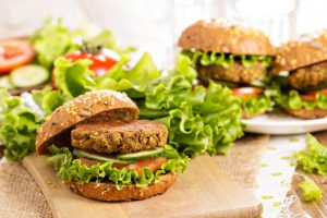 Plant-based simple chickpea burger recipe