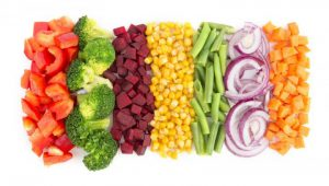 cut assorted vegetables