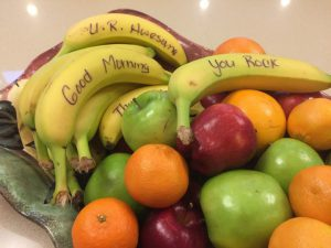 Bowls of fresh fruit is a good option for employee wellness and nutrition