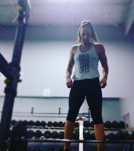 Jana Spindler Calgary RD at the gym