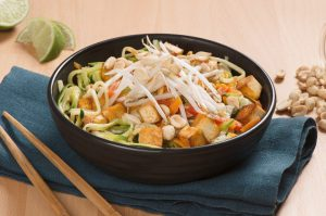 Vegetarian Pad Thai-Insprired Zoodle recipe, Peanut Bureau of Canada