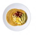 Spicy White Bean Tomato Breakfast Taco