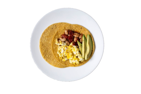 Spicy White Bean Tomato Breakfast Taco