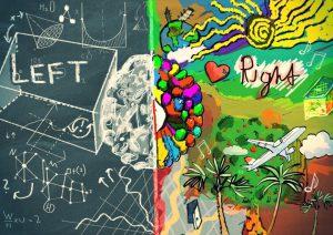 Right brain vs left brain image
