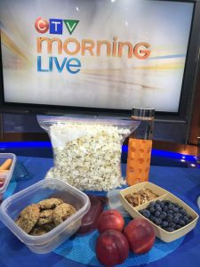 Andrea Holwegner on CTV Morning News with healthy snack ideas