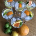 fresh citrus in lemon club soda