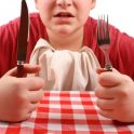 Child waiting for food