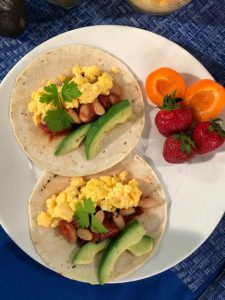 Spicy White Bean and Tomato Breakfast Taco Recipe