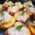 grilled peaches with honey marscapone cheese